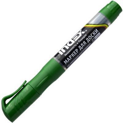 Маркер для доски Index IMWR100/GN 3 мм зеленый сменные чернила IMWR100/GN маркер перманентный index imp575 gn зеленый imp575 gn