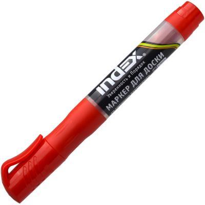Маркер для доски Index IMWR100/RD 3 мм красный сменные чернила IMWR100/RD маркер для доски index красный черный imw101 bk rd