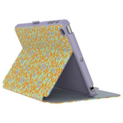 Чехол-книжка Speck StyleFolio для iPad mini 4 оранжевый рисунок фиолетовый 71805-5070