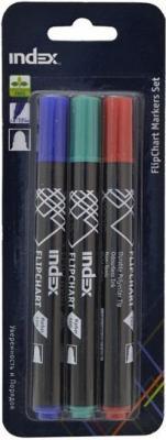 Набор маркеров Index IMF500/3 4 мм 3 шт синий красный зеленый