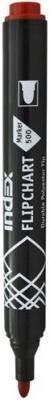 Маркер для флипчарта Index IMF500/RD 1 мм красный  IMF500/RD