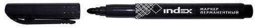 Маркер перманентный Index IMP550/BK 4 мм черный