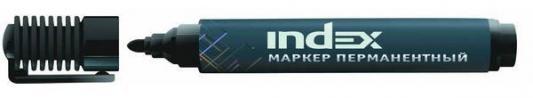 Маркер перманентный Index IMP555/BK 1 мм черный маркер перманентный index imp555 bu 4 мм синий