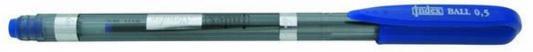 Ручка шариковая SLENDER, пластиковый тонированный корпус, рифленый грип, цветной колпачок, 0,5 мм, синяя IBP301/BU