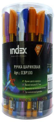 Шариковая ручка Index ColourPlay синий 0.7 мм ICBP100 в ассортименте