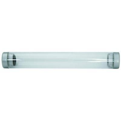 Футляр для одной ручки, прозрачный цилиндр, длина 155 мм, диаметр 22 мм, пластиковый BX-106