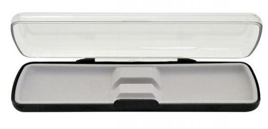 Футляр для одной ручки, прямоугольный, с прозрачной крышкой, 165х36х21 мм, пластиковый BX-113