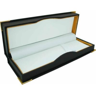 Футляр для 1-2 ручек, подарочный, бархатная подкладка, прямоугольный, 186х67х32 мм, коричневый BX-303