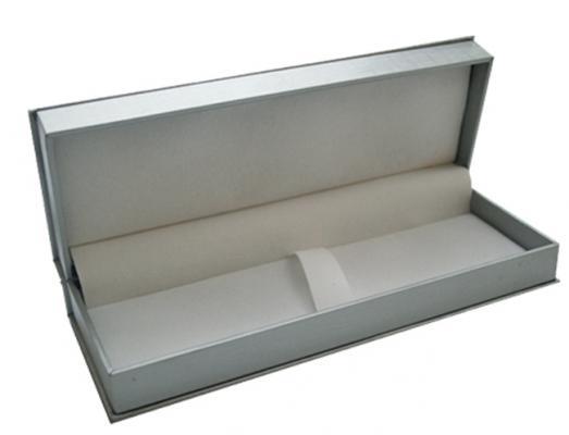 Футляр для ручки, подарочный, прямоугольный, 188х65х34 мм, серебристый BX-415/2 цена