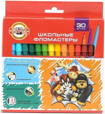 Набор фломастеров Koh-i-Noor Веселые животные 1 мм 30 шт разноцветный 1002/30 KS 1002/30 KS