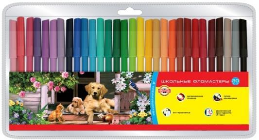 Набор фломастеров Koh-i-Noor Домашние животные 30 шт разноцветный 1002/30 TE 1002/30 TE амлодипин таб 10мг 30