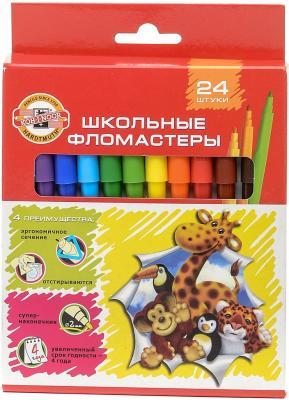 Набор фломастеров Koh-i-Noor Веселые животные 1 мм 24 шт разноцветный 1002/24 KS набор фломастеров koh i noor домашние животные 2 мм 24 шт разноцветный 1002 24 te 1002 24 te