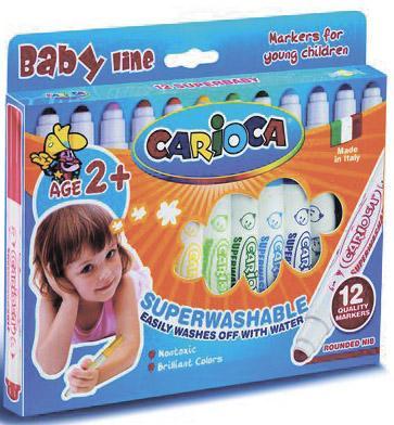 Набор фломастеров Universal CARIOCA Superwashable Baby 12 шт разноцветный 42249/12 42249/12