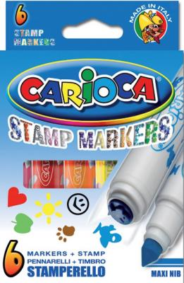 Набор маркеров Universal CARIOCA STAMP MARKERS 6 шт разноцветный 42279/6 42279/6 набор фломастеров universal carioca mini jumbo 6 шт разноцветный 40106 6