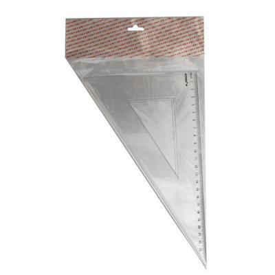Треугольник 30*, длина 23 см,прозрачный,пластиковый,в инд.пакете с европодвесом APR23/30/TR