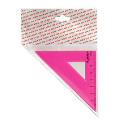 Треугольник 45*, длина 7 см,флюоресцентный,пластиковый,4цв,в инд.пакете с европодвесом APR7/45/FL
