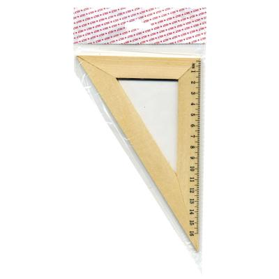 Треугольник 30*, длина 16см, деревянный, в инд.пакете с европодвесом AWR16/30