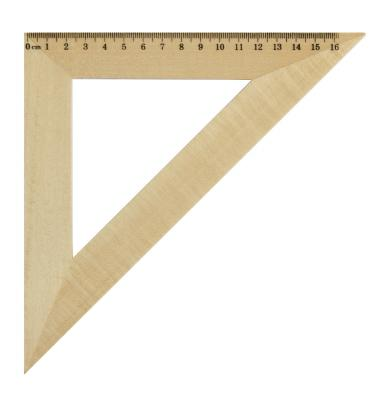 Треугольник 45*, длина 16см, деревянный, в инд.пакете с европодвесом AWR16/45