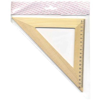 Треугольник 45*, длина 18см,деревянный, в инд.пакете с европодвесом AWR18/45