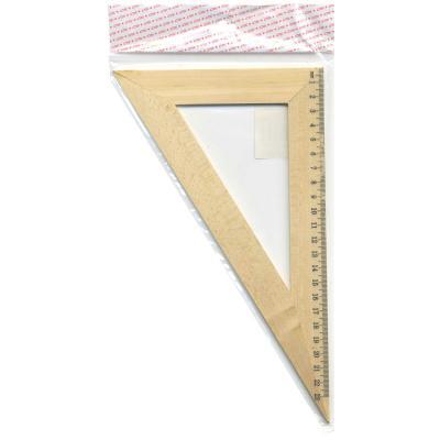 Треугольник 30*, длина 23см, деревянный, в инд.пакете с европодвесом AWR23/30