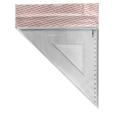 Треугольник 45*, длина 16 см,прозрачный,пластиковый,в инд.пакете с европодвесом APR16/45/TR