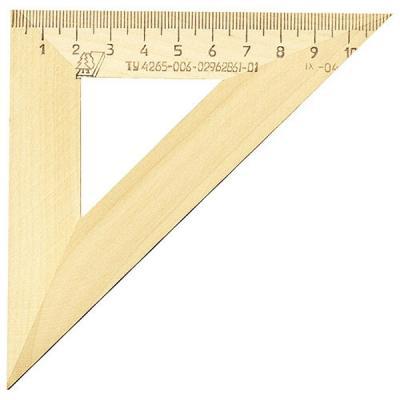 Треугольник деревянный, 45*, 11 см, со штрихкодом С 138/ШК