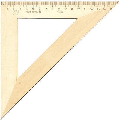 Треугольник деревянный, 45*, 18 см, со штрихкодом