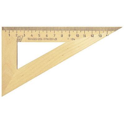 Треугольник деревянный, 30*, 16 см, со штрихкодом С 139/ШК
