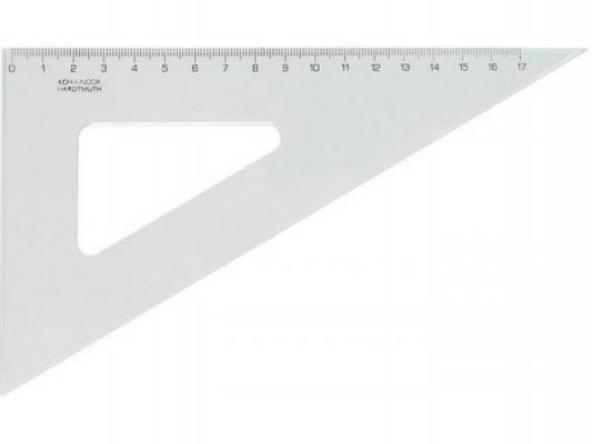 Треугольник, угол 60 градусов / 200 мм, прозрачный, в индивидуальной упаковке с европодвесом 744700