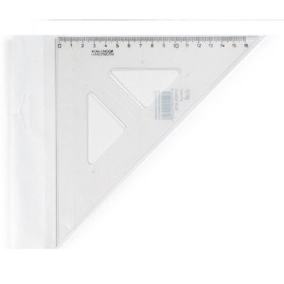 Треугольник, угол 45 градусов / 177 мм, прозрачный, в индивидуальной упаковке с европодвесом 744150