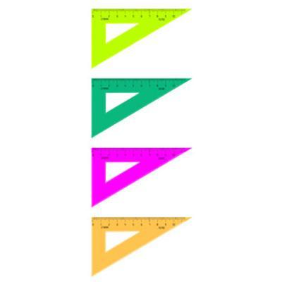 Треугольник 30*, 10 см, флюоресц., 4 цв. ТК23