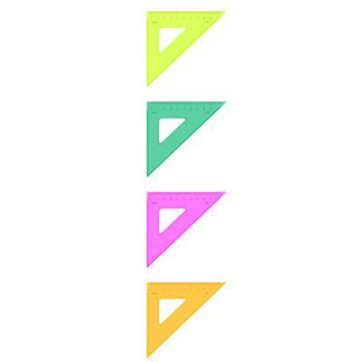 Треугольник 45*, 9 см, флюоресц., прозр.,4 цв. ТК32