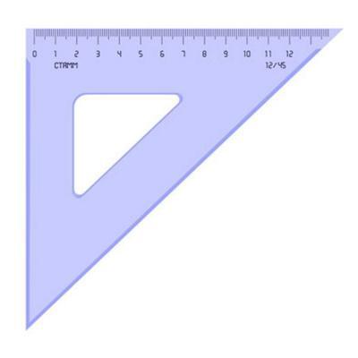 Треугольник 45*, 12 см, тонированный ТК46