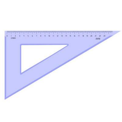 Треугольник 30*, 23 см, тонированный ТК56