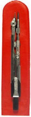 Циркуль чертежный ТЕХНИКА (ЦЧ-02-01), стальной, L-125мм, для старших классов и студентов, чехол ЦЧ-60-10