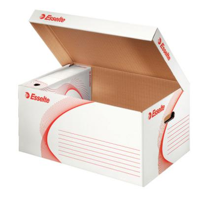 Короб архивный с откидной крышкой, 365x255x550 мм, белый 128900 короб архивный esselte standart 128910 картон с крышкой