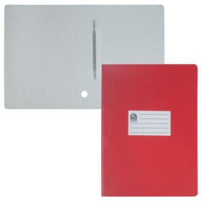 Офис-папка скоросшиватель, лакированный микрогофрокартон, 470 г/кв.м,233х30х315 мм, красный SRC723/RD