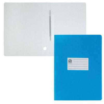 Офис-папка скоросшиватель, лакированный микрогофрокартон, 470 г/кв.м,233х30х315 мм, синий