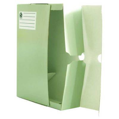Лоток-коробка архивный, лакированный микрогофрокартон, 470 г/кв.м, 250x150x315 мм, белый SAB720/W