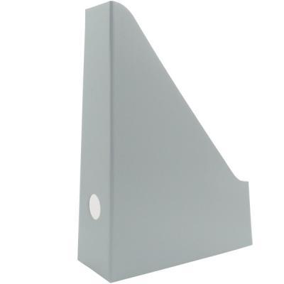 Накопитель архивный, вертикальный, лакированный микрогофрокартон, 470 г/кв.м,227х75х305 мм, серый SCT704/GR