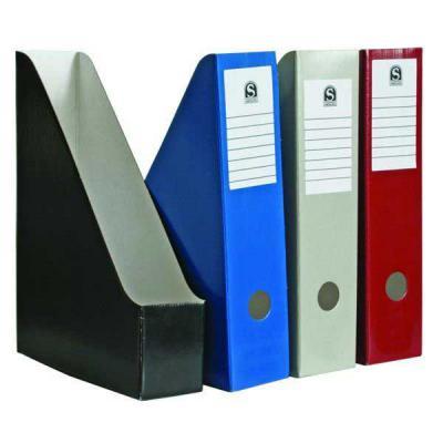 Накопитель архивный, вертикальный, лакированный микрогофрокартон, 470 г/кв.м,227х150х305 мм, черный SCT715/BK