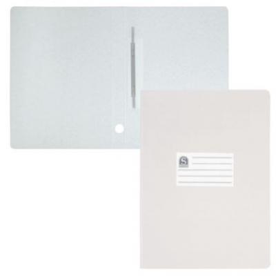 Офис-папка скоросшиватель, лакированный, микрогофрокартон, 470 г/кв.м,233х30х315 мм, белый