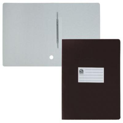 Офис-папка скоросшиватель, лакированный микрогофрокартон, 470 г/кв.м,233х30х315 мм, чёрный SRC725/BK