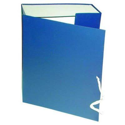 Короб архивный на завязках, бумвинил, 320х242х100 мм, синий КАрхБ/В-100С