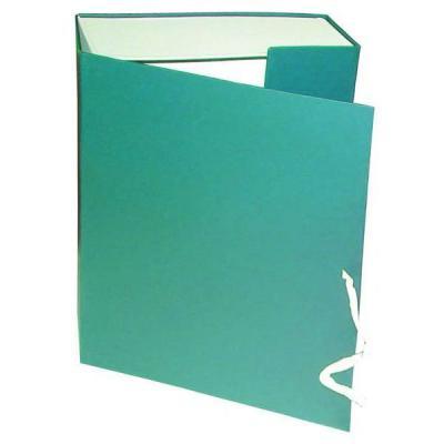 Короб архивный на завязках, бумвинил, 320х242х100 мм, зеленый КАрхБ/В-100З