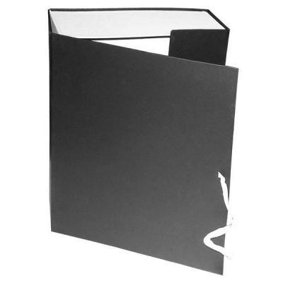 Короб архивный на завязках, бумвинил, 320х242х100 мм, черный КАрхБ/В-100Ч