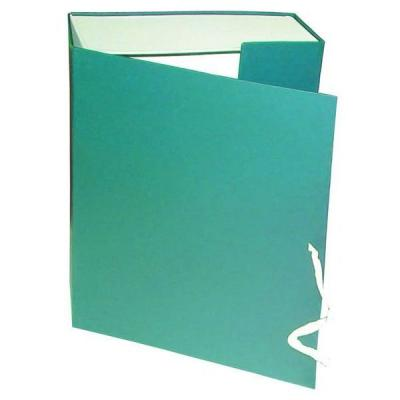 Короб архивный на завязках, бумвинил, 320х242х120 мм, зеленый КАрхБ/В-120З