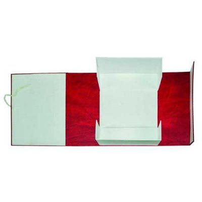 Короб архивный на завязках, бумвинил, 320х242х150 мм, бордо