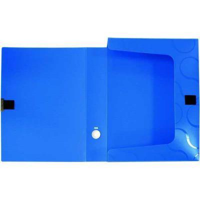 Короб для документов OMEGA на липучке, пластиковый, толщина 55 мм, цвет синий 0410-0044-03