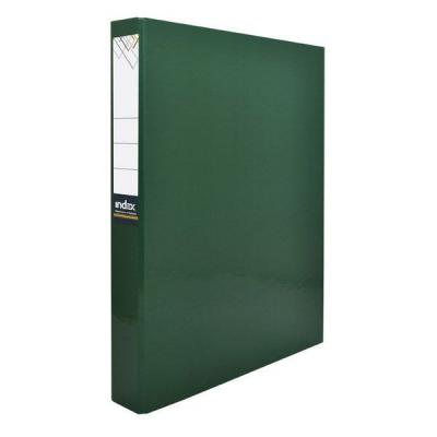 Папка-файл ламинированная на 2 кольцах, зеленая